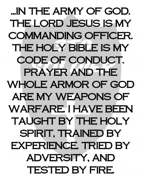 Soldier's Creed in Christ