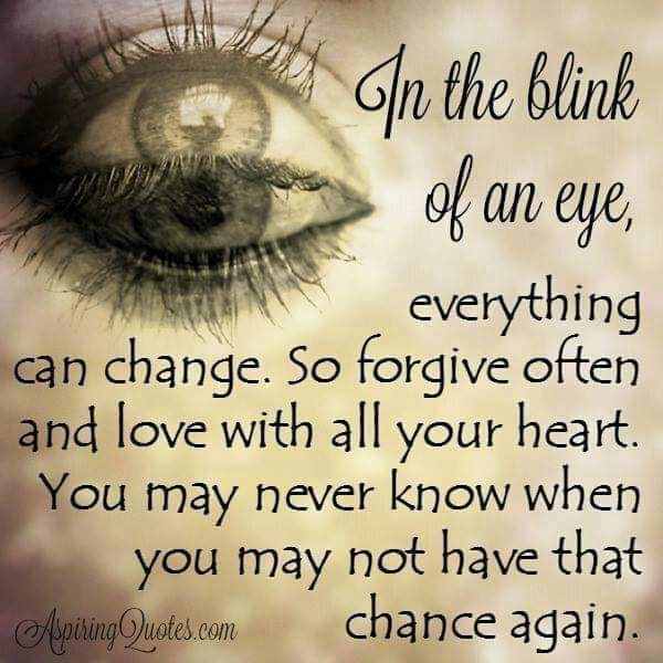 in the blink of an eye poem