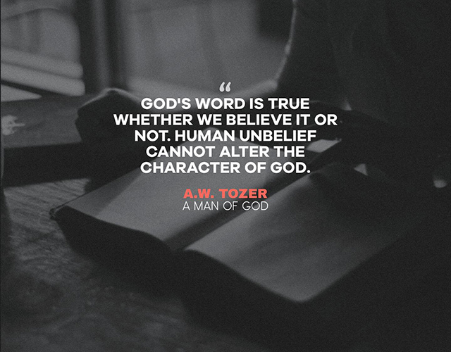 God's Character aw tozer