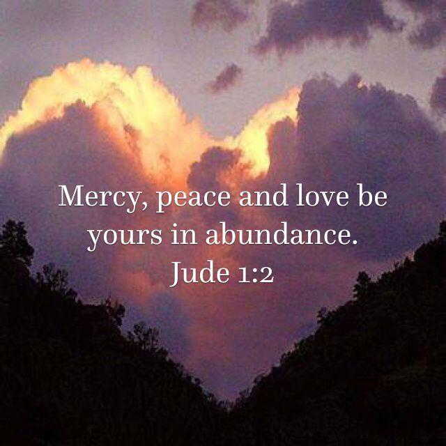 mercy, peace, love