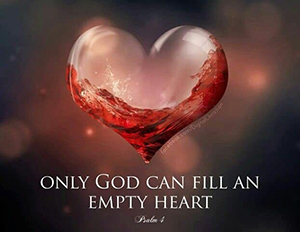 only God can fill empty heart