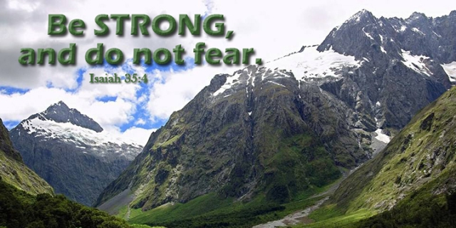 014 be strong, do not fear