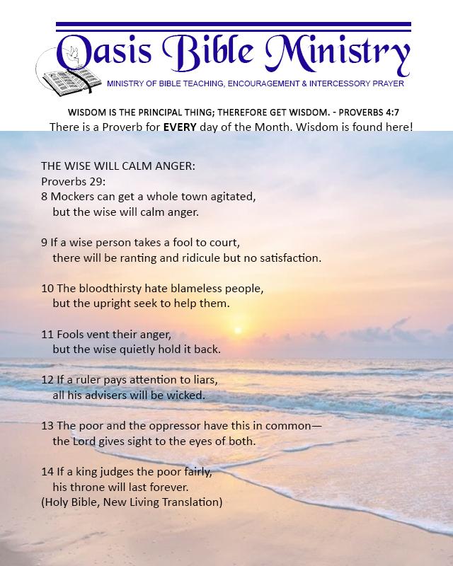 032 Proverbs 29_8-14