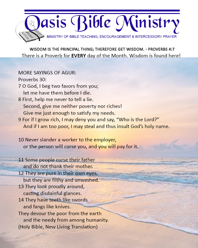 033 Proverbs 30_7-14