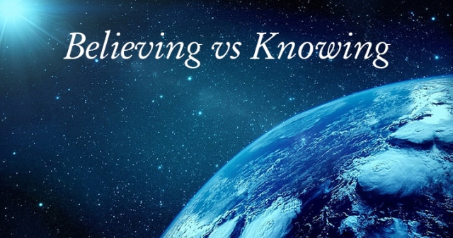 believing vs knowing