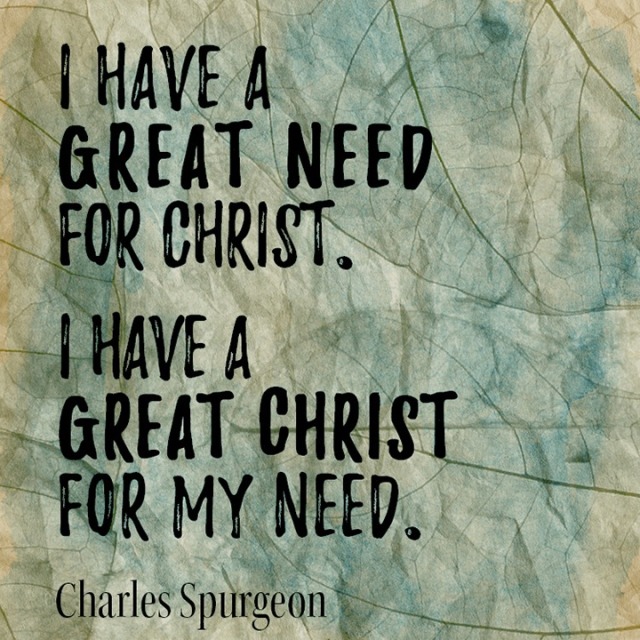 Christ for my need