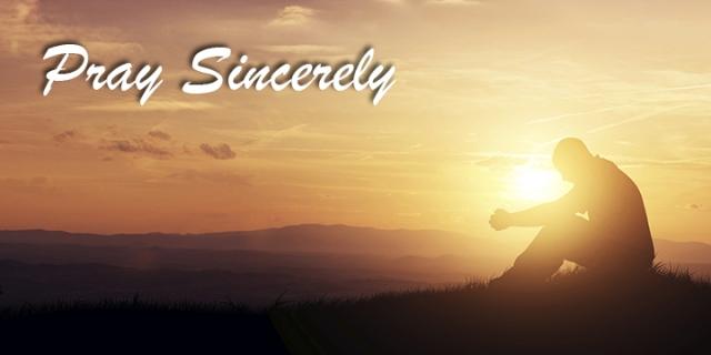 pray sincerely wp