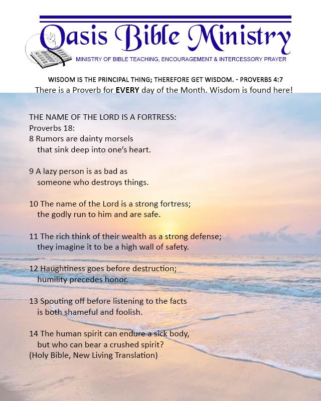 052 Proverbs 18_8-14