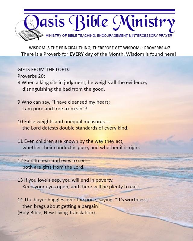 054 Proverbs 20_8-14