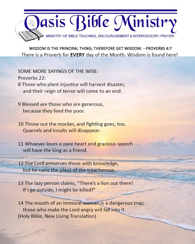 056 Proverbs 22_8-14