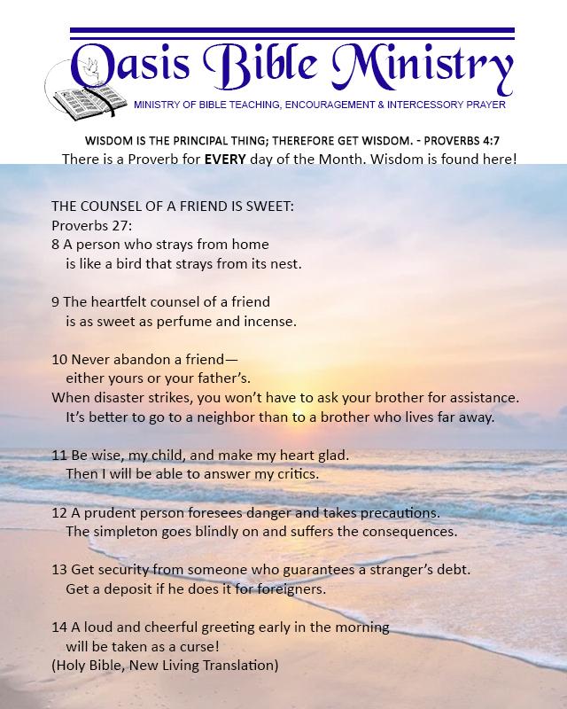 061 Proverbs 27_8-14