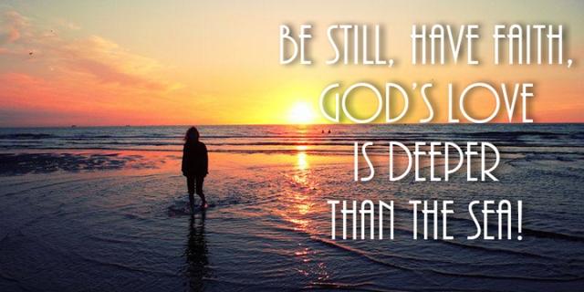 be still have faith wp