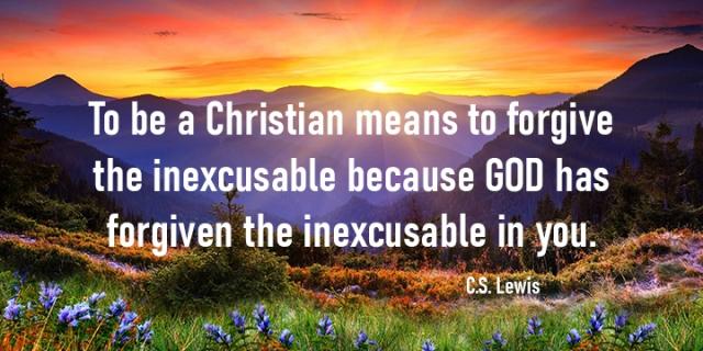 Christian means forgiveness