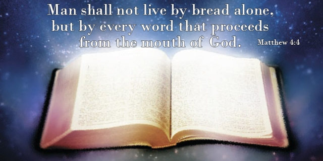 not live by bread alone