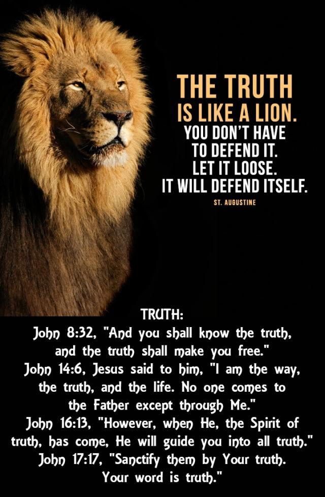 the truth like a lion wp