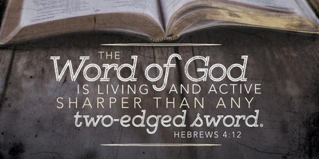 word of God is sharp