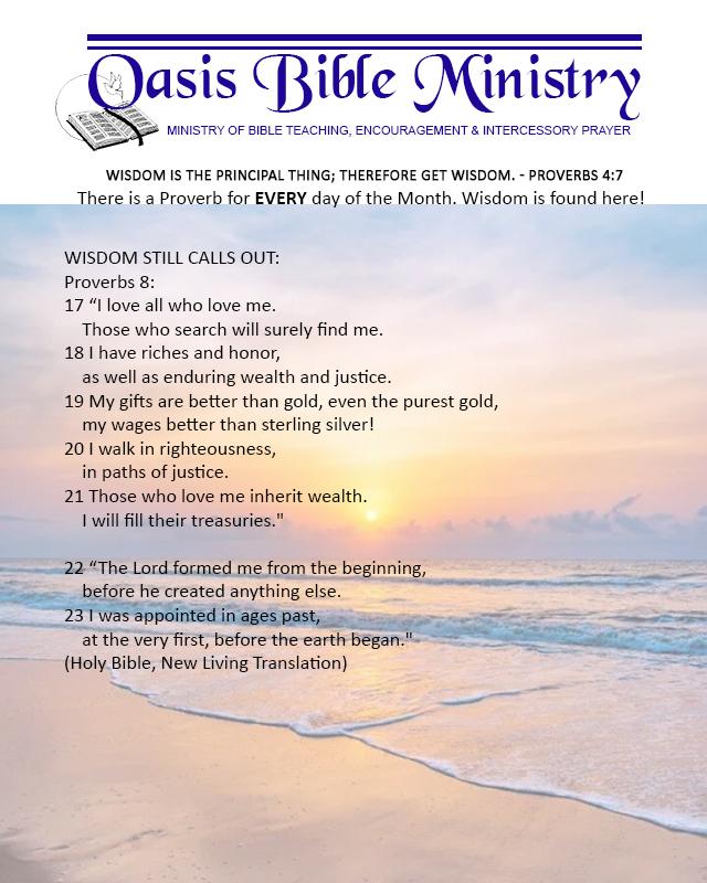 073 Proverbs 8_17-23