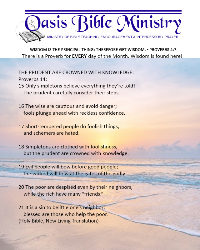 079 Proverbs 14_15-21