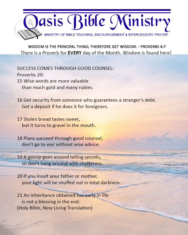 085 Proverbs 20_15-21