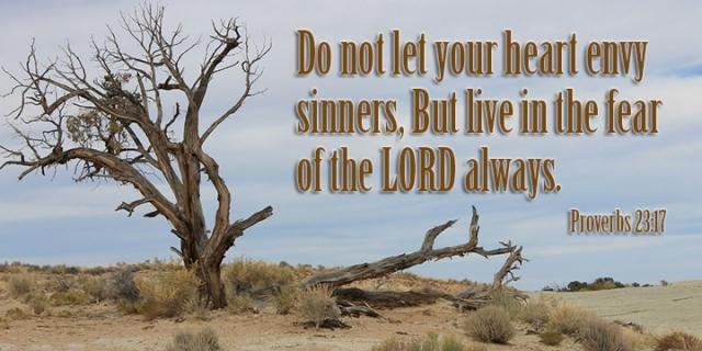 im don't envy sinners