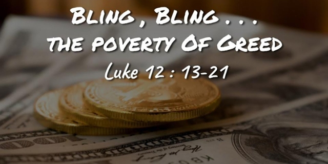 im the poverty of greed