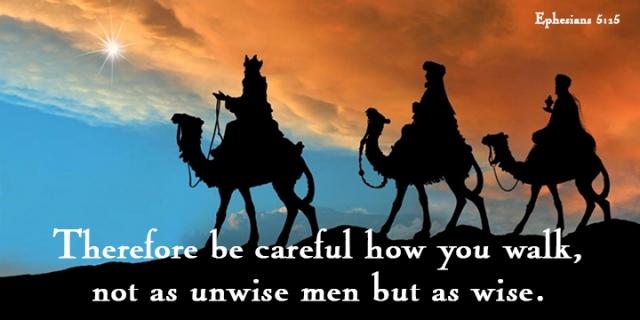 walk as wise men
