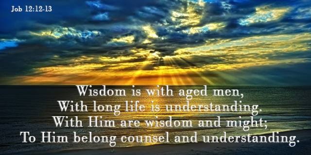 with God is wisdom and might