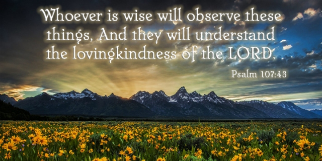 im 106 wise understand god's lovingkindness